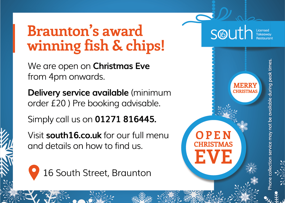 South 16 Christmas 2017 Offer Pop Up