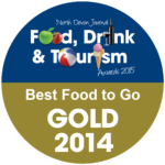 North Devon Journal - Food, drink and tourism awards - gold 2014 badge