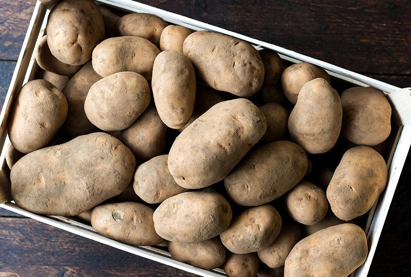 Tasty local potatoes